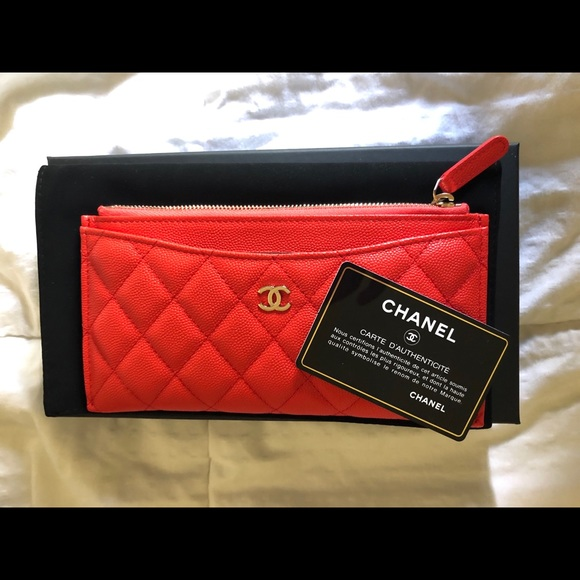 f5575d047d03 CHANEL Bags | Need To Sell Nwt Red Slim Wallet Pouch | Poshmark